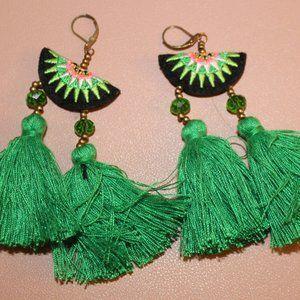 Watermelon Fringe Earrings